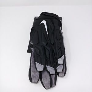 Nike D-Tack 6.0 Lineman Football Gloves Black